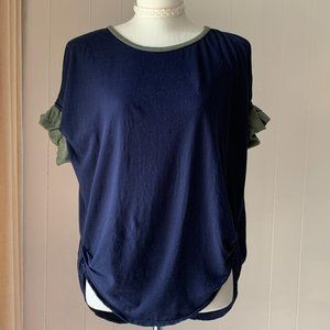 2 For $35 Oversize Blue T-Shirt Size S/M